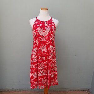 Westport Floral Embroidered Summer Dress Red M